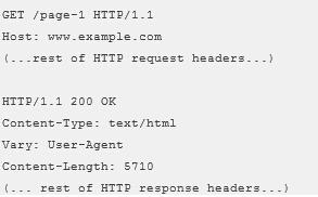 Vary HTTP